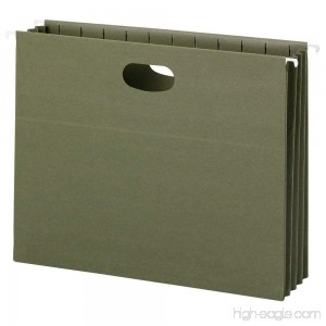 Smead 100% Recycled Hanging File Pocket 3-1/2 Expansion Letter Size Standard Green 10 per Box (64226) - B00NBBGGHG