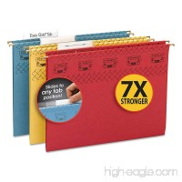 Smead 64040 Tuff Hanging Folder with Easy Slide Tab Letter Assorted 15/Pack - B01E29HIHW