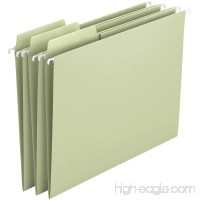 Smead Erasable FasTab Hanging File Folder 1/3-Cut Built-In Tab Letter Size Moss 20 per Box (64032) - B00AHV7MJO