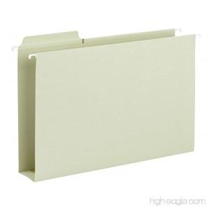 Smead FasTab Box Bottom Hanging File Folder 1/3-Cut Built-in Tab 2 Expansion Legal Size Moss 20 per Box (64301) - B002MPPB6Y