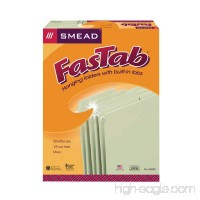 Smead FasTab Hanging File Folder 1/3-Cut Built-In Tab Letter Size Moss 20 per Box (64082) - B0013COEEW