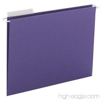Smead Hanging File Folder  1/3-Cut Adjustable Tab  Letter Size  Purple  25 per Box (64023) - B00D2XYXT6