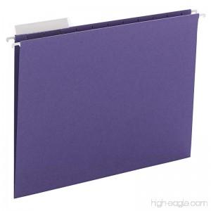 Smead Hanging File Folder 1/3-Cut Adjustable Tab Letter Size Purple 25 per Box (64023) - B00D2XYXT6