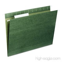 Smead Hanging File Folder  1/3-Cut Adjustable Tab  Letter Size  Standard Green  25 per Box (64035) - B00006IF4C