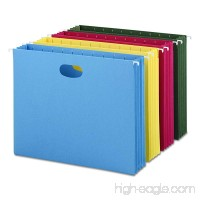 Smead Hanging File Pocket 3-1/2 Expansion Letter Size Assorted Colors 4 per Pack (64290) - B000GRA91W