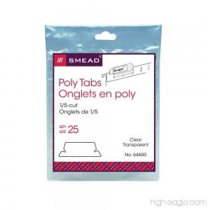 Smead Poly Tab 1/5-Cut Clear 25 Per Pack (64600) - B0006Z3LCS