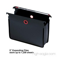 Ultimate Office Expanding PolyMagniFiles (Set of 2) Letter Size Black Folder (5 Expanding Files (Set of 2)) - B079YCX5LJ