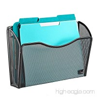 Wall File Holder Organizer By Mindspace  Hanging Single Pocket   The Mesh Collection  Black - B078P4MXSH