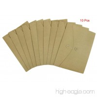 10 Pcs A4 Size Kraft Paper Project Envelope File Folder Bags Document Bills Storage Organizer Bag Case with Expandable Gusset Portfolio Organizer Sleeve Pocket With String Fastener  Office Supplies - B07333DHNR