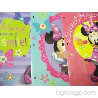 3 Pk  Disney Minnie Mouse Assorted 2-pocket Portfolio Folder - B013GX3FYK