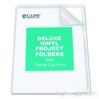 C-Line Deluxe Super Heavyweight Non-Glare Vinyl Project Folders  Letter Size  Clear  50 per Box (62138) - B0006HWAT6