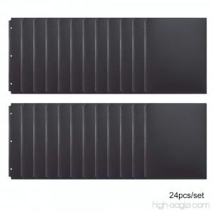 Comix Pocket Folder 2 Pocket Letter Size Poly File Portfolio Folder with 3-Hole Punch - 24 Pack (A2140) (Black) - B0793KHHYB