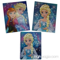 Disney Frozen Theme Back to School Bundle - Two High Quality folders Folders and one - 100 page Frozen Themed Notebook. - B01K4KFTIS