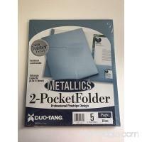 Duo-Tang 2-Pocket Folder Professional Pinstripe Design  Blue  Pack of 5  59700 - B07664YQZ6