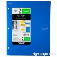 Five Star 2 - Pocket Folder Stay-Put Tabs Plastic (38060) (BLUE) - B074C1ZYRP