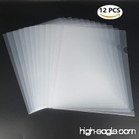 L-Type Plastic Folder Safe Project Pockets Transparent Clear Document Folder 12pcs for A4 paperPlastic Paper Jacket Sleeves in Assorted Project Folders - B073FFQ81B