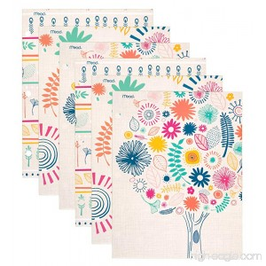 Mead Pocket Folders 2-Pocket 12 x 9-3/8 Botanical Boutique Assorted Designs 6 Pack (73833) - B01E0E85TE