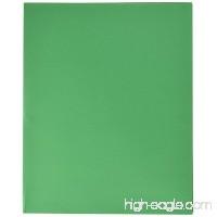 School Smart Heavy Duty 2 Pocket Folder - 8 1/2 x 11 inch - Pack of 25 - Green - B003U6VUKK