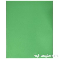 School Smart Heavy Duty 2 Pocket Portfolio with 3 Hole Fastener - 9 1/2 x 12 in - 25 Pack - Lt Green - B003U6TPY8