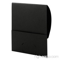 Smead Organized Up Stackit File Folder  One Pocket  Letter Size  Textured Stock  Black  10 per Pack (87913) - B0085IQ292