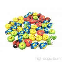 50pcs Rubber Eraser Cute Cartoon Character Styling Pencil Eraser for Children Study Supplies - B078MRF99W