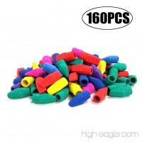 Eraser Caps EVNEED 160 pcs Pencil Top Eraser Caps for Kids Fun Learning Assorted Colors -Yellow Green Blue Purple Red Orange - B07BDCTH87
