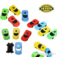 Pencil Eraser  Race Car Eraser Pocket toy Party Favors Kids School Office Stationary  Random Color  24 PCS - B06XWQGHQ4