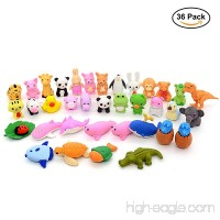 Pencil Erasers Puzzle Animal Erasers for Party Favors  Games Prizes  Carnivals and School Supplies. 36 Pack - B07CM9LJC1