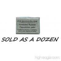 Prismacolor Eraser Kneaded Rubber Eraser Large Grey 12 Pack - B007YCOF4Y
